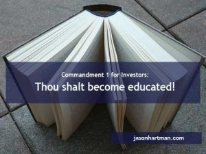 10 Commandments for investors, first commandment