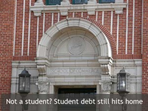 Student debt still hits home