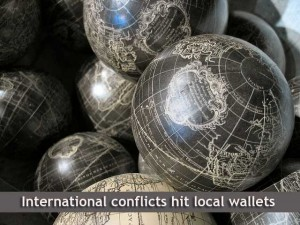 International conflict hits local wallets
